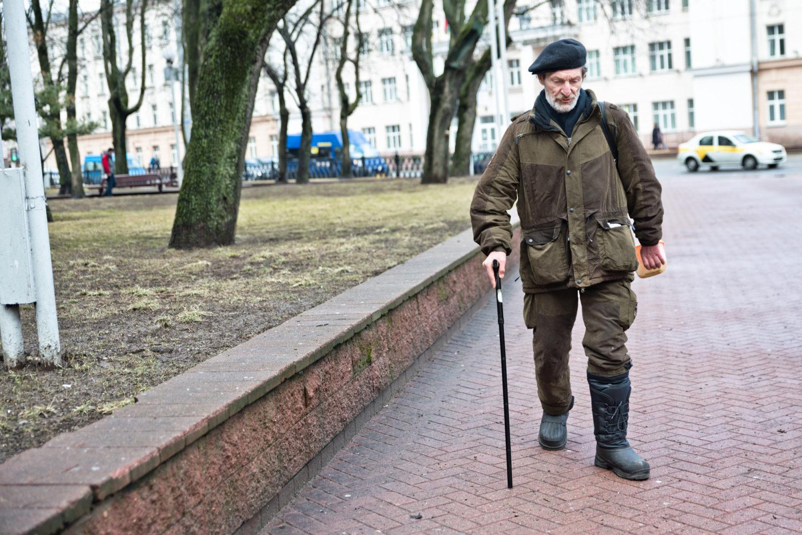 Homeless Man in Minsk, Belarus